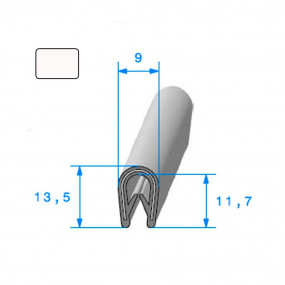 Joint armature métallique avec pince pvc armé Blanc - 9 x 13,5 mm