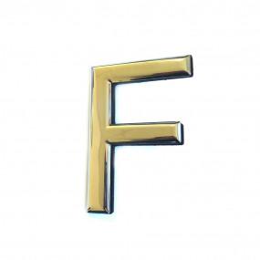 """Sigle pays """"F"""" en métal chromé"""