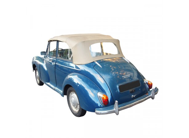 Capote auto Morris Minor cabriolet en Alpaga, lunette souple