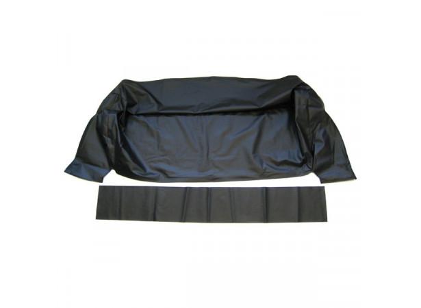 Habillage du coffre à capote de Buick Special cabriolet en simili noir