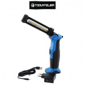 Lampe LED éclairage et inspection rechargeable slim 270° - 500 lumens - ToolAtelier®