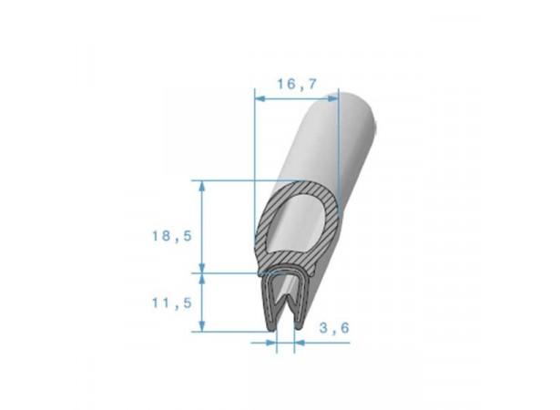 Joint de coffre sur armature métallique