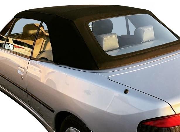 Capote auto Peugeot 306 cabriolet en Alpaga Sonnenland avec lunette arrière en PVC