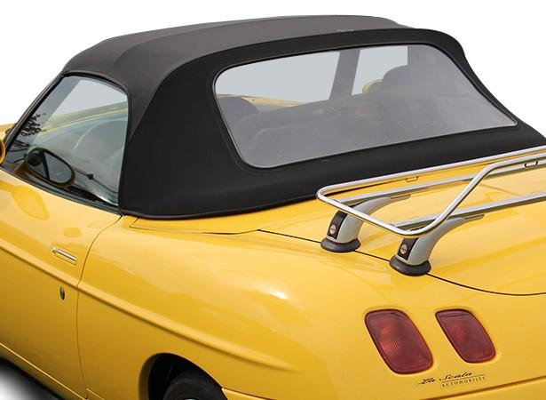 Capote auto OEM Fiat Barchetta cabriolet en Vinyle origine Fiat avec lunette arrière en PVC montée sur ZIP