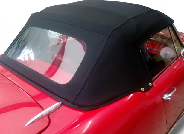 Capotes auto Alfa Romeo Giulia Spider 1600 cabriolet en Alpaga avec lunette arriere en PVC