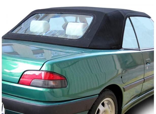 Capote auto Peugeot 306 cabriolet en Alpaga Stayfast II avec lunette arrière en PVC