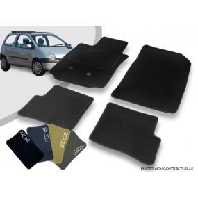 RN - Noir 4tlg 2007-2014 Velours Tapis De Sol Convient pour Renault Twingo 2