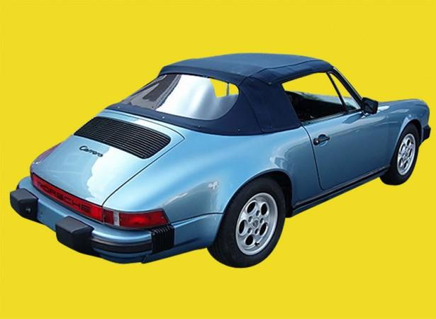 Capote auto Porsche 911 SC/Carrera cabriolet en Alpaga Twillfast avec lunette arrière en PVC