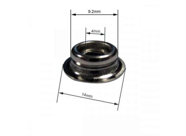 Bouton pression durable male laiton nickelé pour tôle (lot de 10)