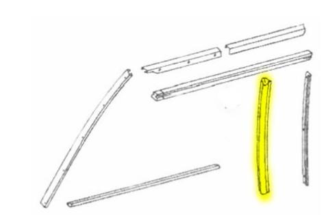 Joint latéral vitre droite