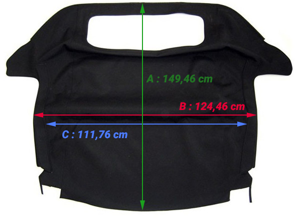 Dimensions de la capote