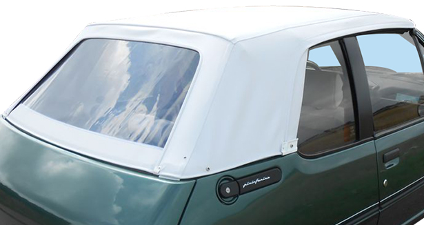 Capote blanche 205 Rolland Garros Peugeot
